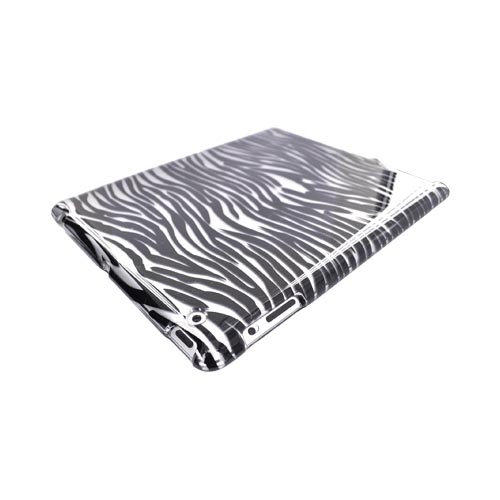 Apple iPad 2 Hard Case - Black Zebra on Gray
