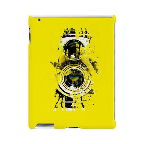 Geeks Designer Line (GDL) Retro Series Apple iPad (2nd & 3rd Gen.) Slim Hard Back Cover - Chaotic Yellow Camera