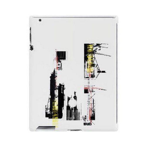 Geeks Designer Line (GDL) Retro Series Apple iPad (2nd & 3rd Gen.) Slim Hard Back Cover - Industrial District