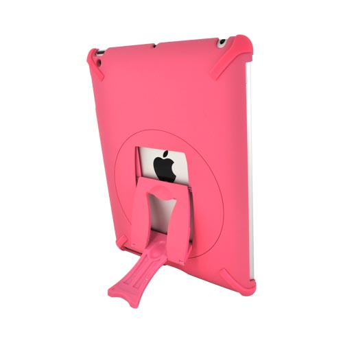 Apple New iPad (3rd Gen.) Hard Case w/ Rotatable Kickstand - Pink