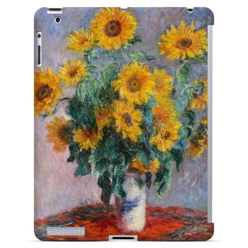 Claude Monet Bouquet of Sunflowers Geeks Designer Line Artist Series Slim Hard Case for Apple iPad (3rd & 4th Gen.)