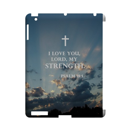 Psalm 18:1 - Geeks Designer Line (GDL) Bible Verse Series Hard Back Cover for Apple iPad (3rd & 4th Gen.)