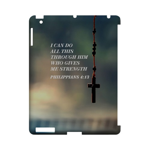 Philippians 4:13 - Geeks Designer Line (GDL) Bible Verse Series Hard Back Cover for Apple iPad (3rd & 4th Gen.)