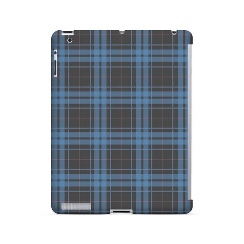 Blue/ Gray/ Pink Plaid - Geeks Designer Line Checker Series Hard Case for Apple iPad (3rd & 4th Gen.)