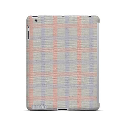 Faint Red/ Blue/ Gray Plaid - Geeks Designer Line Checker Series Hard Case for Apple iPad (3rd & 4th Gen.)
