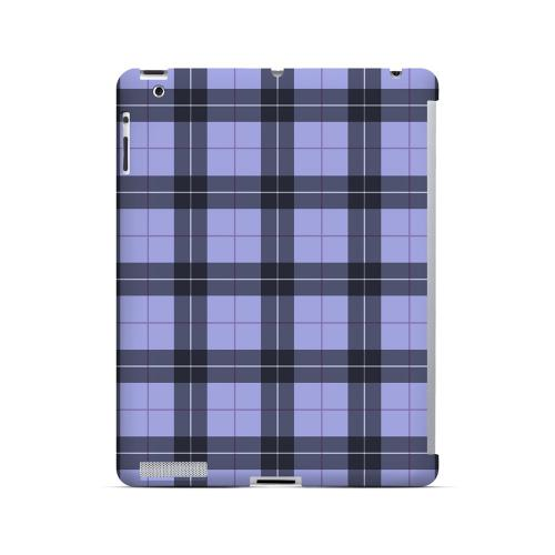 Scottish-Like Plaid in Purple - Geeks Designer Line Checker Series Hard Case for Apple iPad (3rd & 4th Gen.)