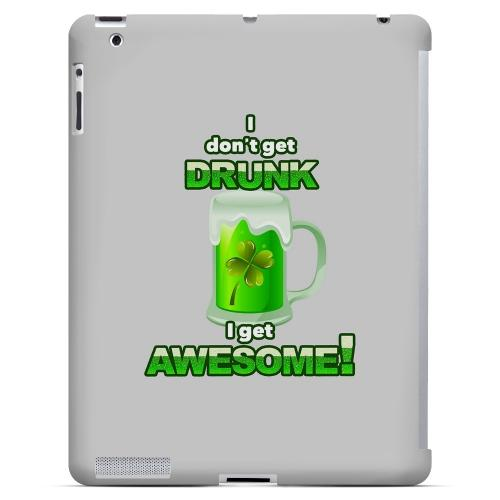 I Get Awesome - Geeks Designer Line Holiday Series Hard Case for Apple iPad (3rd & 4th Gen.)
