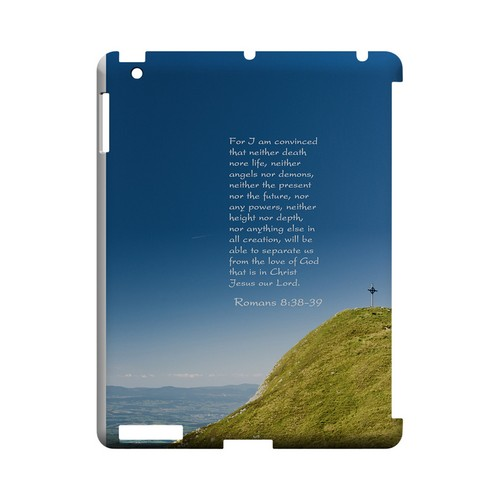 Romans 8:38-39 - Geeks Designer Line (GDL) Bible Verse Series Hard Back Cover for Apple iPad (3rd & 4th Gen.)