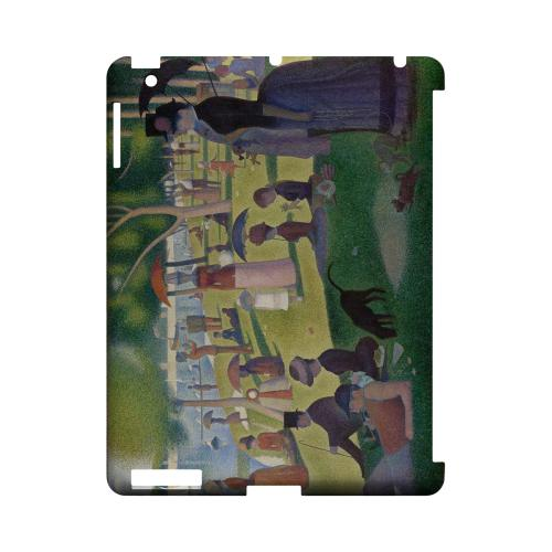 Georges Seurat Sunday Afternoon on the Island of La Grand Jatte Geeks Designer Line Artist Series Slim Hard Case for Apple iPad (3rd & 4th Gen.)