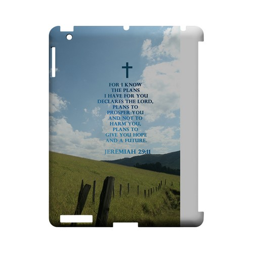 Jeremiah 29:11 - Geeks Designer Line (GDL) Bible Verse Series Hard Back Cover for Apple iPad (3rd & 4th Gen.)