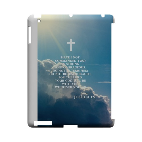Joshua 1:9 - Geeks Designer Line (GDL) Bible Verse Series Hard Back Cover for Apple iPad (3rd & 4th Gen.)