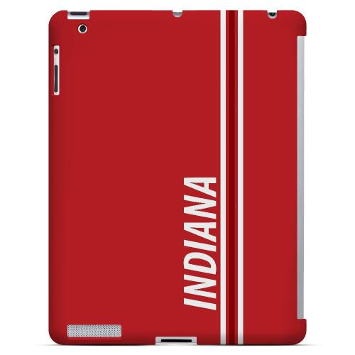 Indiana - Geeks Designer Line March Madness Series Hard Case for Apple iPad (3rd & 4th Gen.)