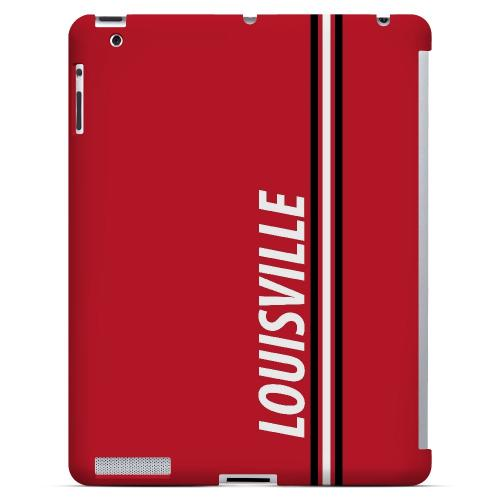 Louisville - Geeks Designer Line March Madness Series Hard Case for Apple iPad (3rd & 4th Gen.)