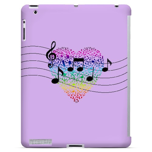 Earful of Color - Geeks Designer Line Music Series Hard Case for Apple iPad (3rd & 4th Gen.)