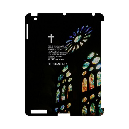 Ephesians 2:8-9 - Geeks Designer Line (GDL) Bible Verse Series Hard Back Cover for Apple iPad (3rd & 4th Gen.)