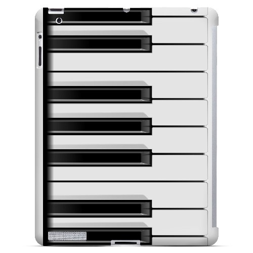 Piano Keys - Geeks Designer Line Music Series Hard Case for Apple iPad (3rd & 4th Gen.)