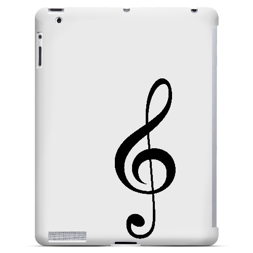 Simple Treble Clef - Geeks Designer Line Music Series Hard Case for Apple iPad (3rd & 4th Gen.)