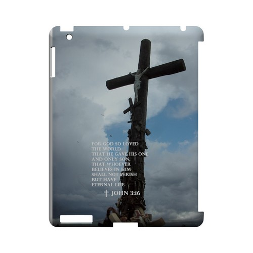 John 3:16 - Geeks Designer Line (GDL) Bible Verse Series Hard Back Cover for Apple iPad (3rd & 4th Gen.)