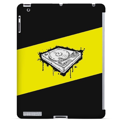Wheel of Steel Yellow - Geeks Designer Line Music Series Hard Case for Apple iPad (3rd & 4th Gen.)