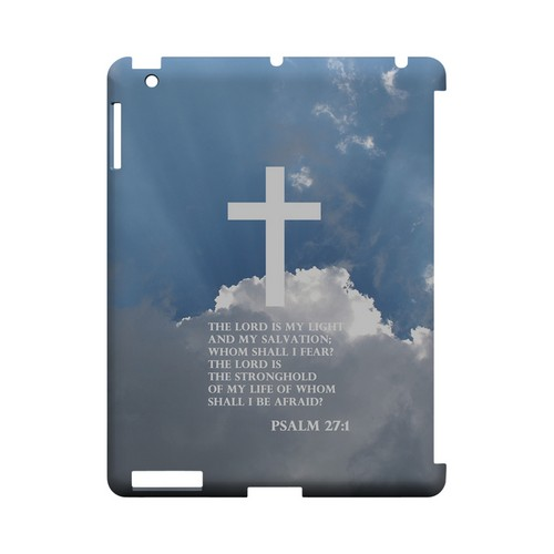 Psalm 27:1 - Geeks Designer Line (GDL) Bible Verse Series Hard Back Cover for Apple iPad (3rd & 4th Gen.)