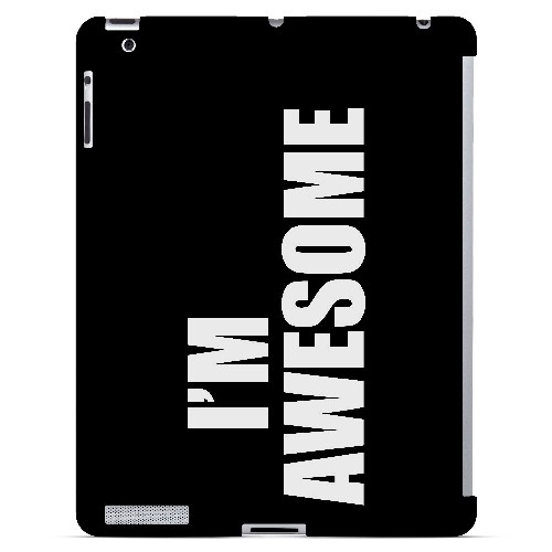 Awesome - Geeks Designer Line Humor Series Hard Case for Apple iPad (3rd & 4th Gen.)