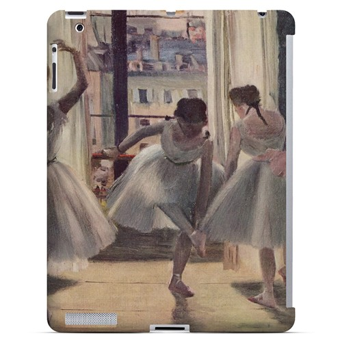 Three Dancers in an Exercise Hall by Edgar Degas - Geeks Designer Line Artist Series Hard Case for Apple iPad (3rd & 4th Gen.)
