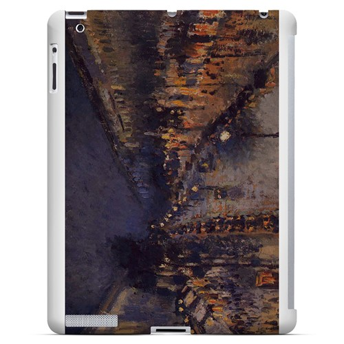 Boulevard Montmarte at Night by Camille Pisarro - Geeks Designer Line Artist Series Hard Case for Apple iPad (3rd & 4th Gen.)