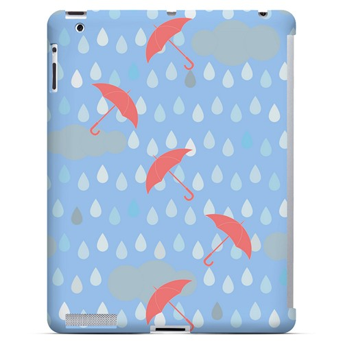 Spring Rain Red Umbrellas - Geeks Designer Line Spring Series Hard Case for Apple iPad (3rd & 4th Gen.)