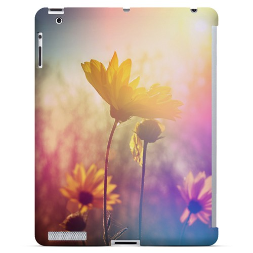 Colorful Daisy Bloom - Geeks Designer Line Spring Series Hard Case for Apple iPad (3rd & 4th Gen.)