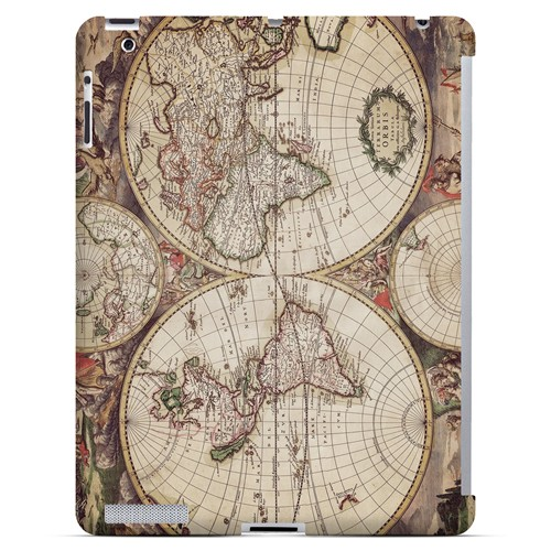 Terrarum Orbis - Geeks Designer Line Map Series Hard Case for Apple iPad (3rd & 4th Gen.)