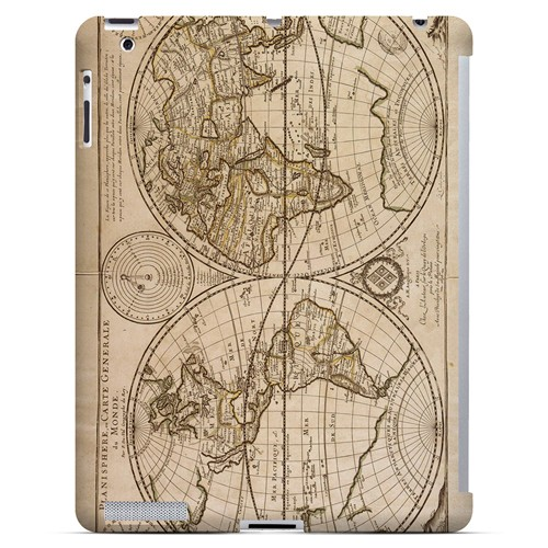Carte Generale du Monde 1676 - Geeks Designer Line Map Series Hard Case for Apple iPad (3rd & 4th Gen.)