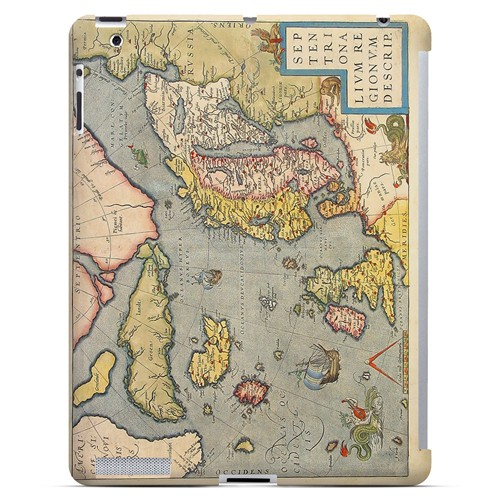 Ancient Map of Europe - Geeks Designer Line Map Series Hard Case for Apple iPad (3rd & 4th Gen.)