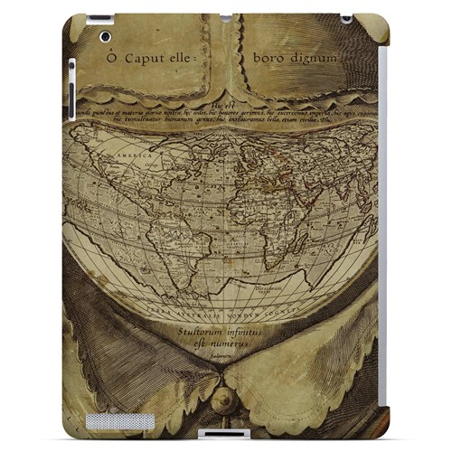 Ancient Map Head - Geeks Designer Line Map Series Hard Case for Apple iPad (3rd & 4th Gen.)