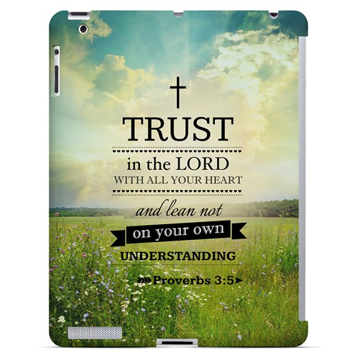 Proverbs 3:5 - Geeks Designer Line Bible Series Hard Case for Apple iPad (3rd & 4th Gen.)