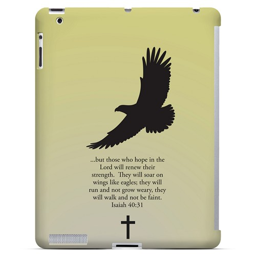 Isaiah 40:31 - Sunset Yellow - Geeks Designer Line Bible Series Hard Case for Apple iPad (3rd & 4th Gen.)