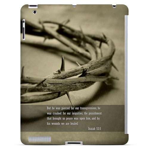 Isaiah 53:5 - Geeks Designer Line Bible Series Hard Case for Apple iPad (3rd & 4th Gen.)