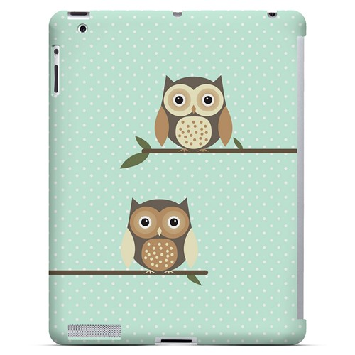 Retro Owls on Polka Dots - Geeks Designer Line Owl Series Hard Case for Apple iPad (3rd & 4th Gen.)