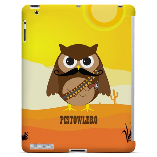 Pistowlero - Geeks Designer Line Owl Series Hard Case for Apple iPad (3rd & 4th Gen.)