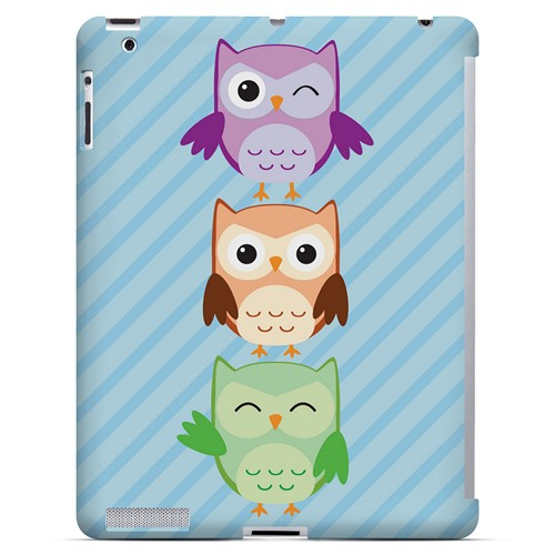 Happy Owl Pals - Geeks Designer Line Owl Series Hard Case for Apple iPad (3rd & 4th Gen.)