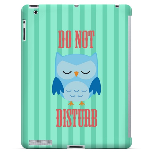 Do Not Disturb - Geeks Designer Line Owl Series Hard Case for Apple iPad (3rd & 4th Gen.)