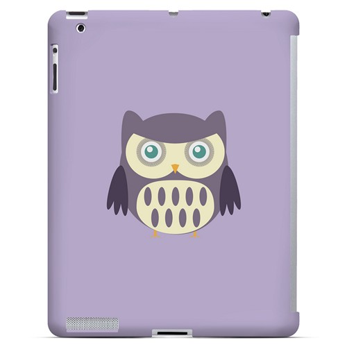 Chubby Purple Owl - Geeks Designer Line Owl Series Hard Case for Apple iPad (3rd & 4th Gen.)