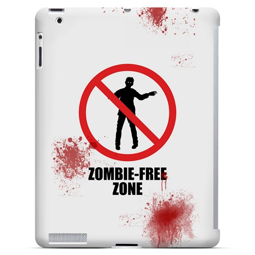 Zombie-Free Zone - Geeks Designer Line Apocalyptic Series Hard Case for Apple iPad (3rd & 4th Gen.)