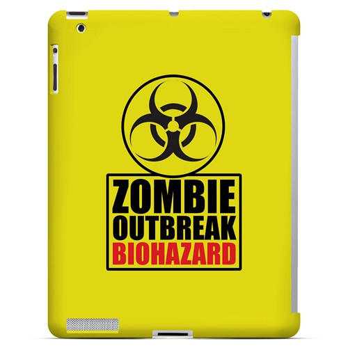 Zombie Outbreak Biohazard - Geeks Designer Line Apocalyptic Series Hard Case for Apple iPad (3rd & 4th Gen.)