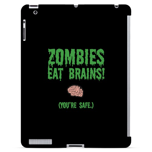 Zombies Eat Brains - Geeks Designer Line Apocalyptic Series Hard Case for Apple iPad (3rd & 4th Gen.)