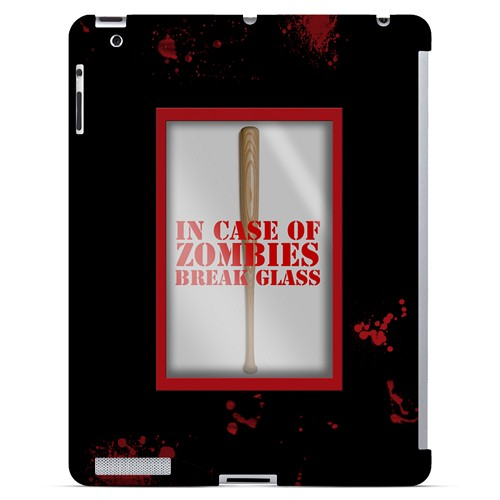 In Case of Zombies Break Glass - Geeks Designer Line Apocalyptic Series Hard Case for Apple iPad (3rd & 4th Gen.)