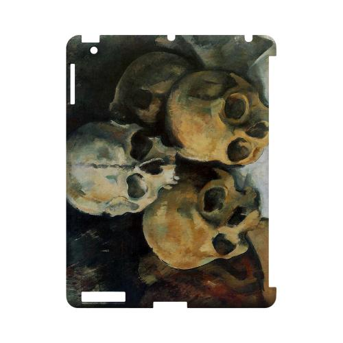 Paul Cezanne Pyramid of Skulls Geeks Designer Line Artist Series Slim Hard Case for Apple iPad (3rd & 4th Gen.)