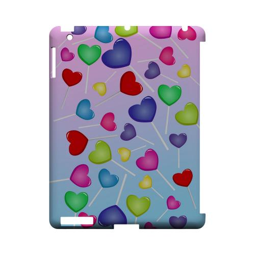 Assorted Heart Lollipops Geeks Designer Line Candy Series Slim Hard Back Cover for Apple iPad (3rd & 4th Gen.)