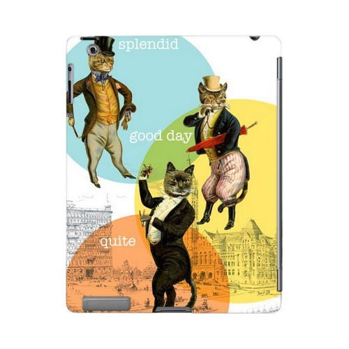 Dandy Kitties Americana Nostalgia Series GDL Slim Hard Case for iPad 2/3 Geeks Designer Line
