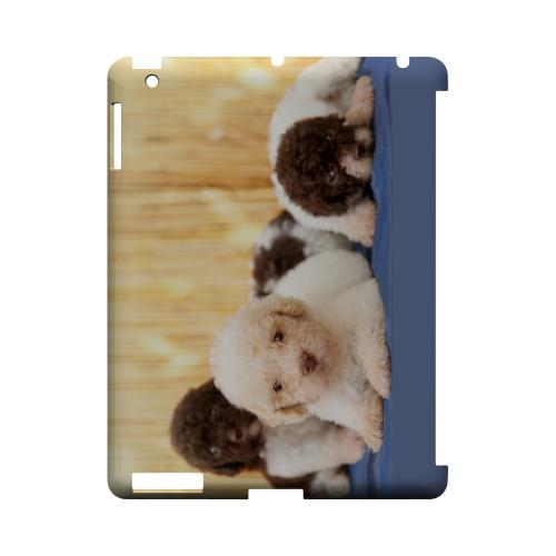Three Buddies Geeks Designer Line Puppy Series Slim Hard Case for Apple iPad (3rd & 4th Gen.)