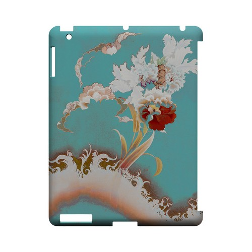 Flower Wave - Geeks Designer Line (GDL) Asian Print Series Hard Back Cover for Apple iPad (3rd & 4th Gen.)